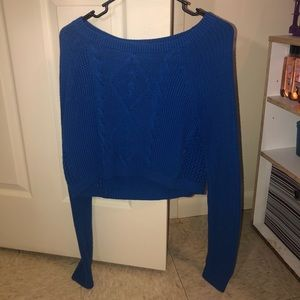 Blue crop sweater!